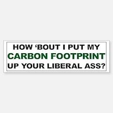 Carbon Footprint Up Your Ass Car Car Sticker