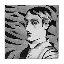 Gerard Manley Hopkins Tile Coaster