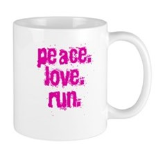 Peace Love Run Mug