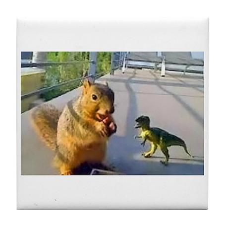 Squirrel Dino Tile Coaster