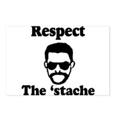 Respect the 'stache Postcards (Package of 8)