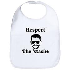 Respect the 'stache Bib
