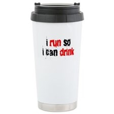 i run so i can drink Travel Mug