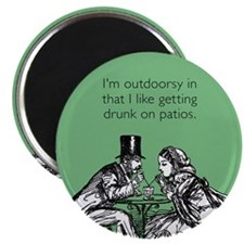 Drunk On Patios Magnet