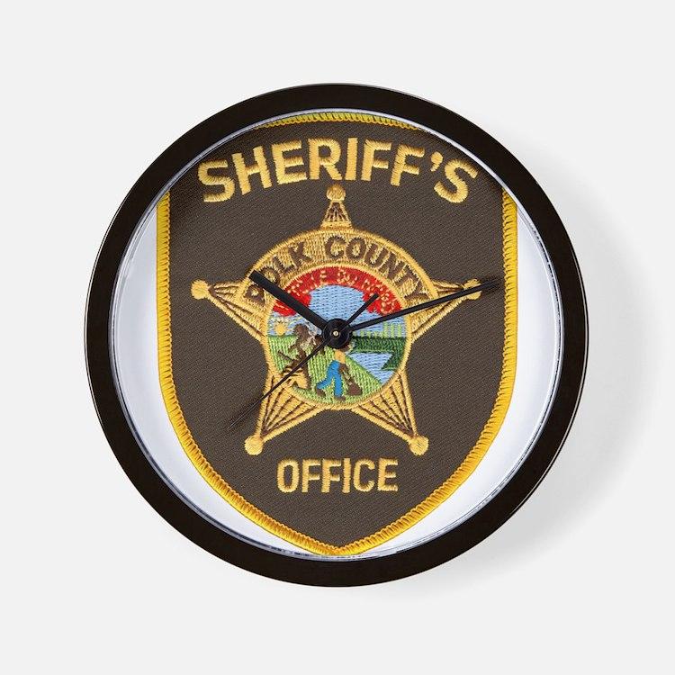 Polk County Sheriff Wall Clock