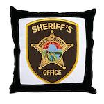 Polk County Sheriff Throw Pillow