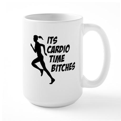 Cardio time... Large Mug