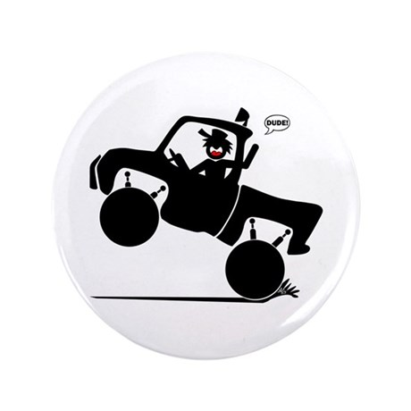 "WHEELIN' DUDE 1w 3.5"" Button (100 pack)"