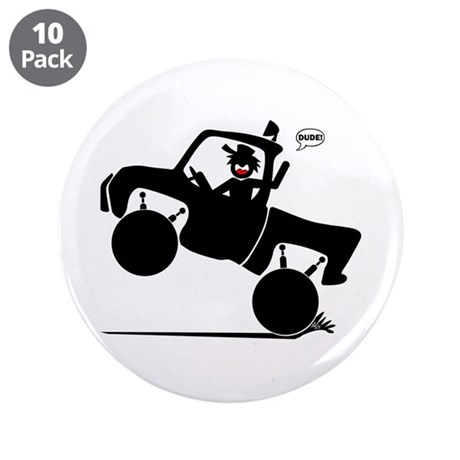 "WHEELIN' DUDE 1w 3.5"" Button (10 pack)"