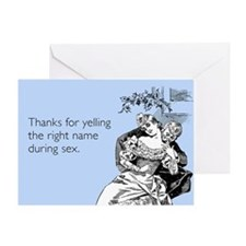 Thanks For Yelling Greeting Card