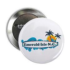 "Emerald Isle NC - Surf Design 2.25"" Button"