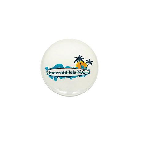 Emerald Isle NC - Surf Design Mini Button