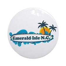 Emerald Isle NC - Surf Design Ornament (Round)