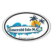 Emerald Isle NC - Surf Design Decal