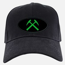 Crossed Rock Hammers (green) Baseball Hat