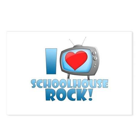 I Heart Schoolhouse Rock Postcards (Package of 8)