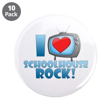 "I Heart Schoolhouse Rock 3.5"" Button (10 pack"