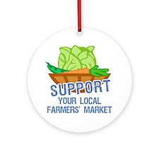 Farmers Market Ornament (Round)