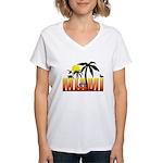 Miami Women's V-Neck T-Shirt