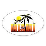 Miami Sticker (Oval)