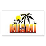 Miami Sticker (Rectangle 10 pk)