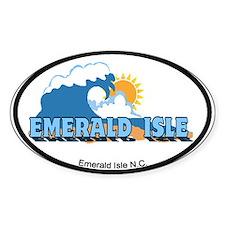 Emerald Isle NC - Waves Design Decal