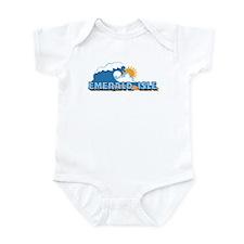 Emerald Isle NC - Waves Design Infant Bodysuit