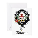 Gibson Clan Crest Badge Greeting Cards (Package of