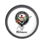 Gibson Clan Crest Badge Wall Clock