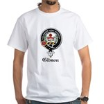 Gibson Clan Crest Badge White T-Shirt