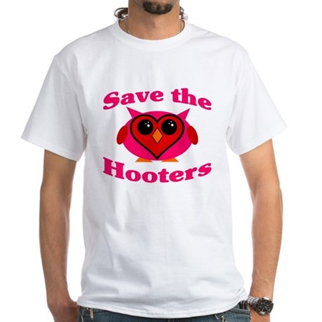 Save the Hooters v2.0 White T-Shirt