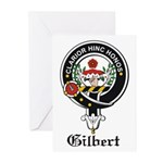 Gilbert Clan Crest Badge Greeting Cards (Package o