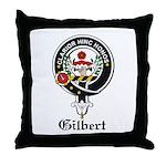 Gilbert Clan Crest Badge Throw Pillow