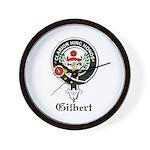 Gilbert Clan Crest Badge Wall Clock