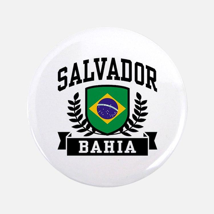 """Salvador Bahia Brazil 3.5"""" Button"""