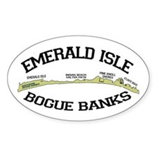 Emerald Isle NC - Map Design Decal