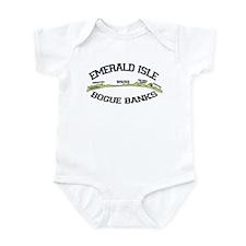 Emerald Isle NC - Map Design Infant Bodysuit