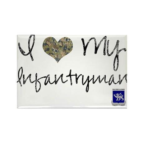 I love my infantryman Rectangle Magnet (100 pack)