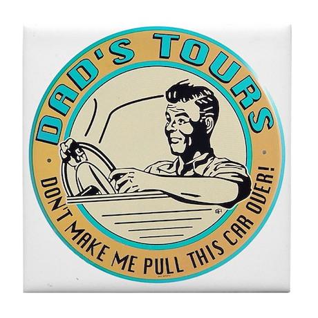 Dad's Tours Tile Coaster