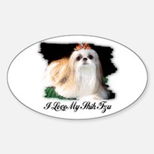 I LOVE MY SHIH TZU Oval Decal