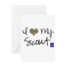 I love my scout Greeting Card