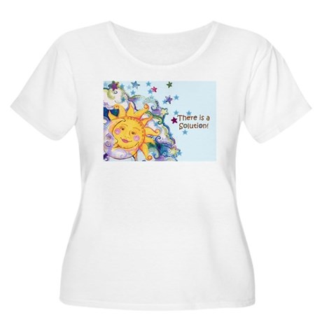 All things Sacred Women's Plus Size Scoop Neck T-S