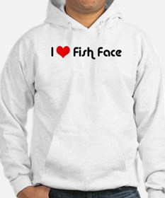 I Love Fish Face Hoodie