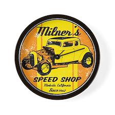 Milner's Speed Shop Wall Clock