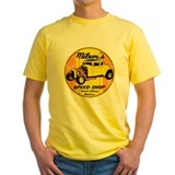 Milners speed shop Mens Yellow T-shirts