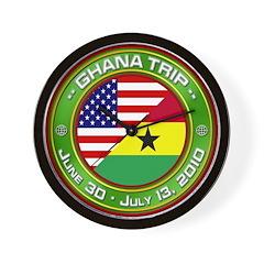 Ghana Trip - 2010 Wall Clock