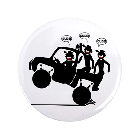 "WHEELIN' DUDES 4w 3.5"" Button (100 pack)"
