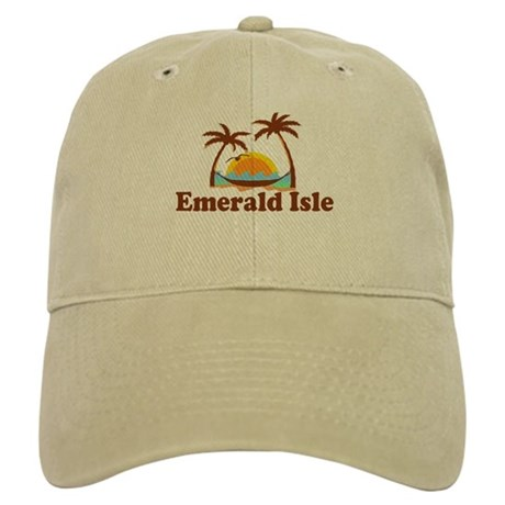 Emerald Isle NC - Palm Trees Design Cap