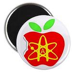 Atomic A Bitten Apple 2.25 Militant Atheist Button