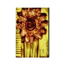 Absract Photo Art Copper Flower Rectangle Magnet